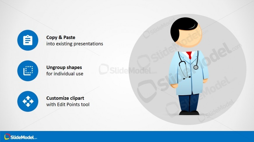 Mike Healthcare Cartoon with Stethoscope Clipart