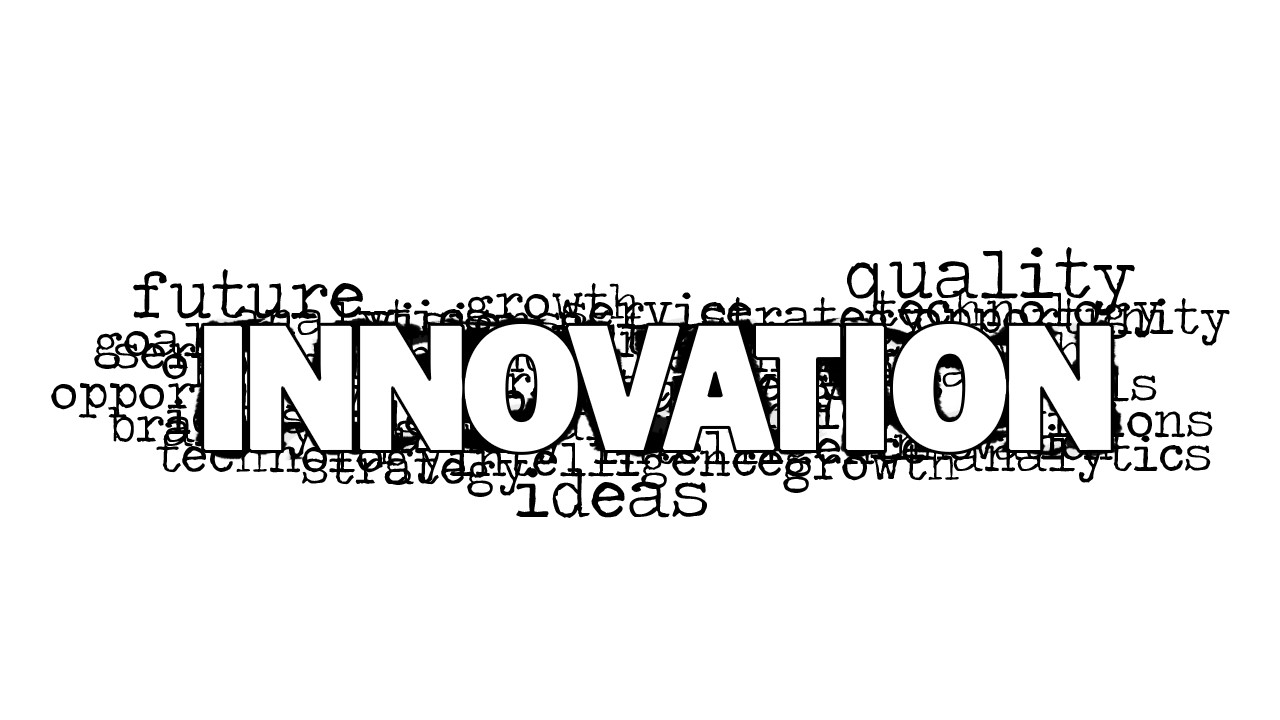 Innovation Word Cloud Picture for PowerPoint - SlideModel