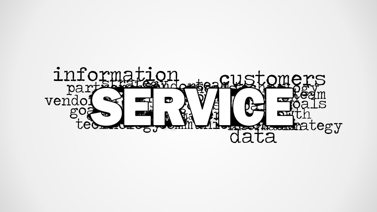 service word cloud picture for powerpoint