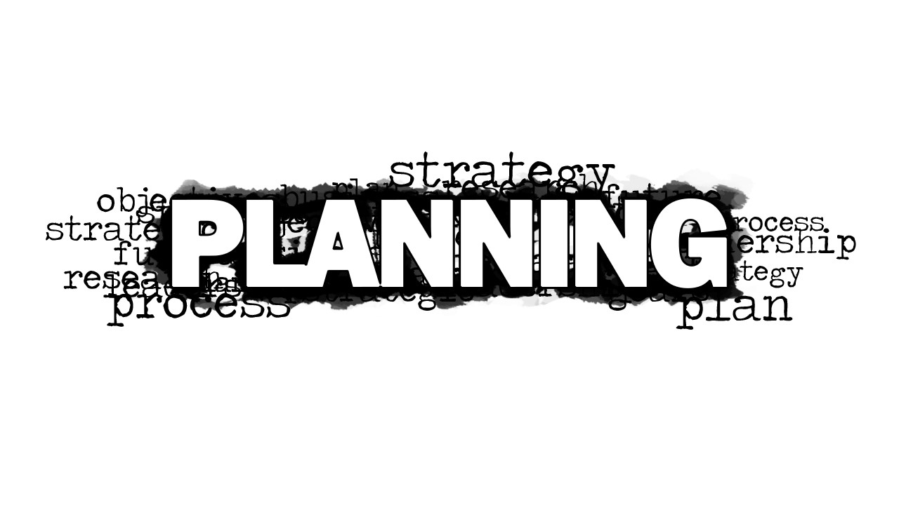 planning word cloud picture for powerpoint