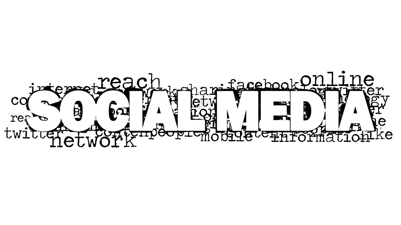 social media word cloud picture for powerpoint