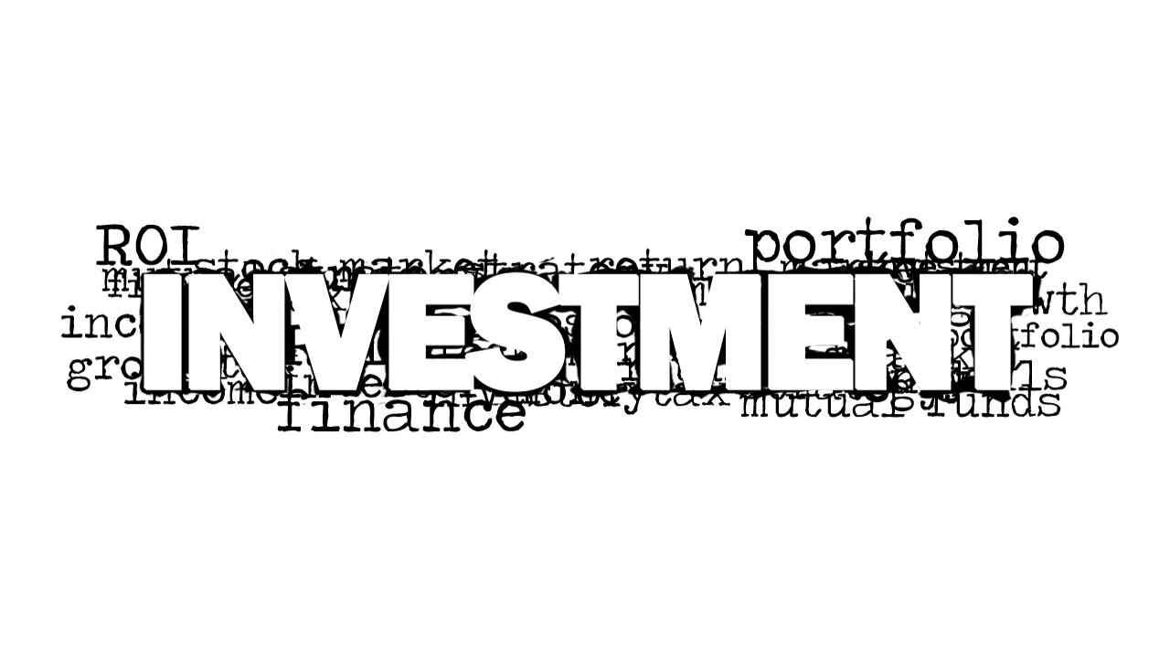 investment word cloud picture for powerpoint