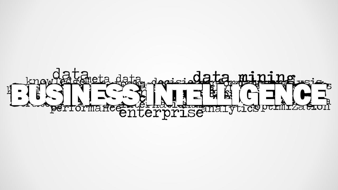 Business Intelligence Word Cloud Picture for PowerPoint