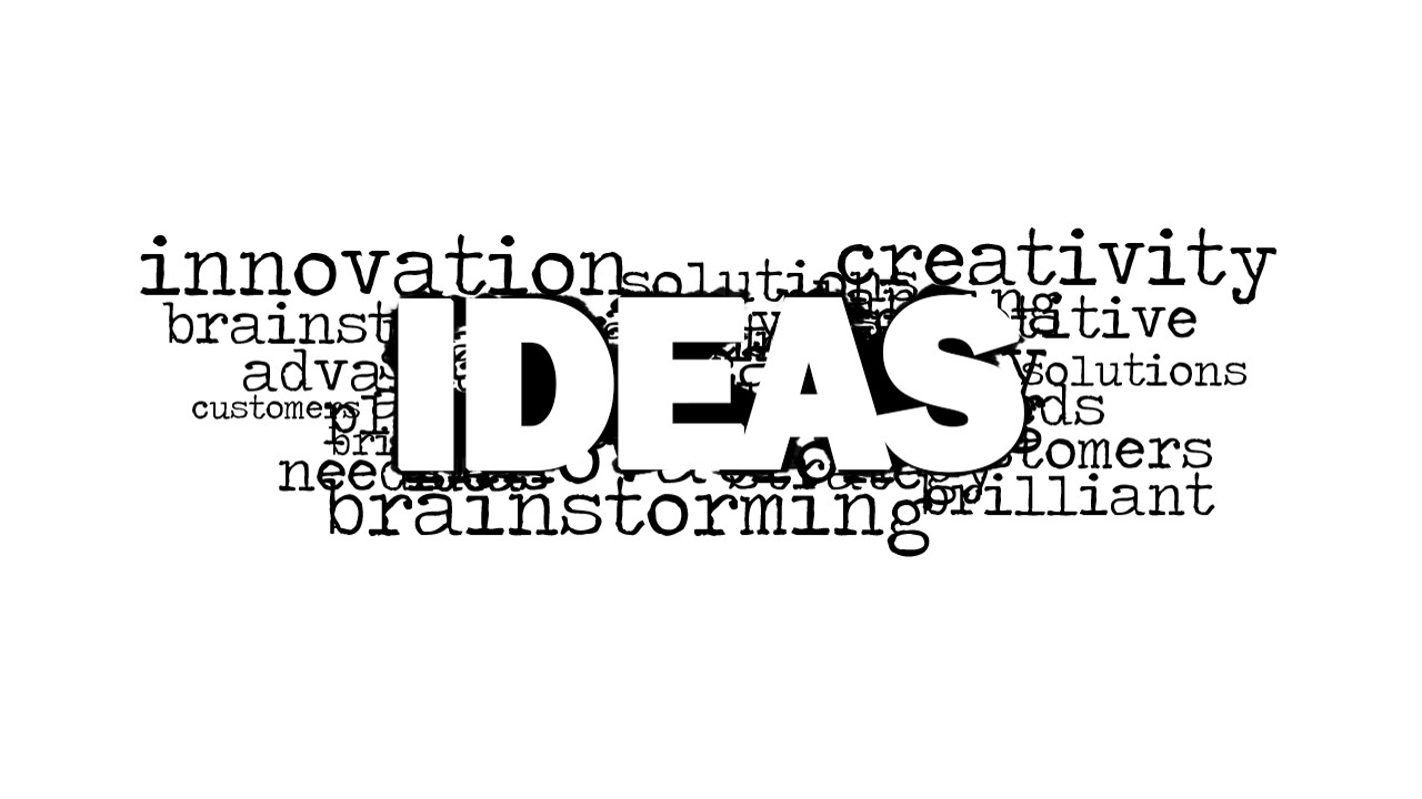 ideas word cloud picture for powerpoint
