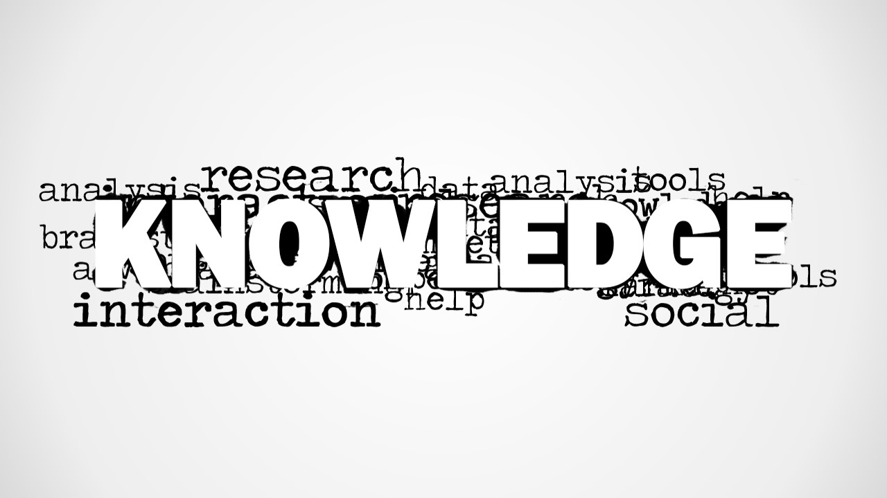 Knowledge Word Cloud Picture For Powerpoint Slidemodel