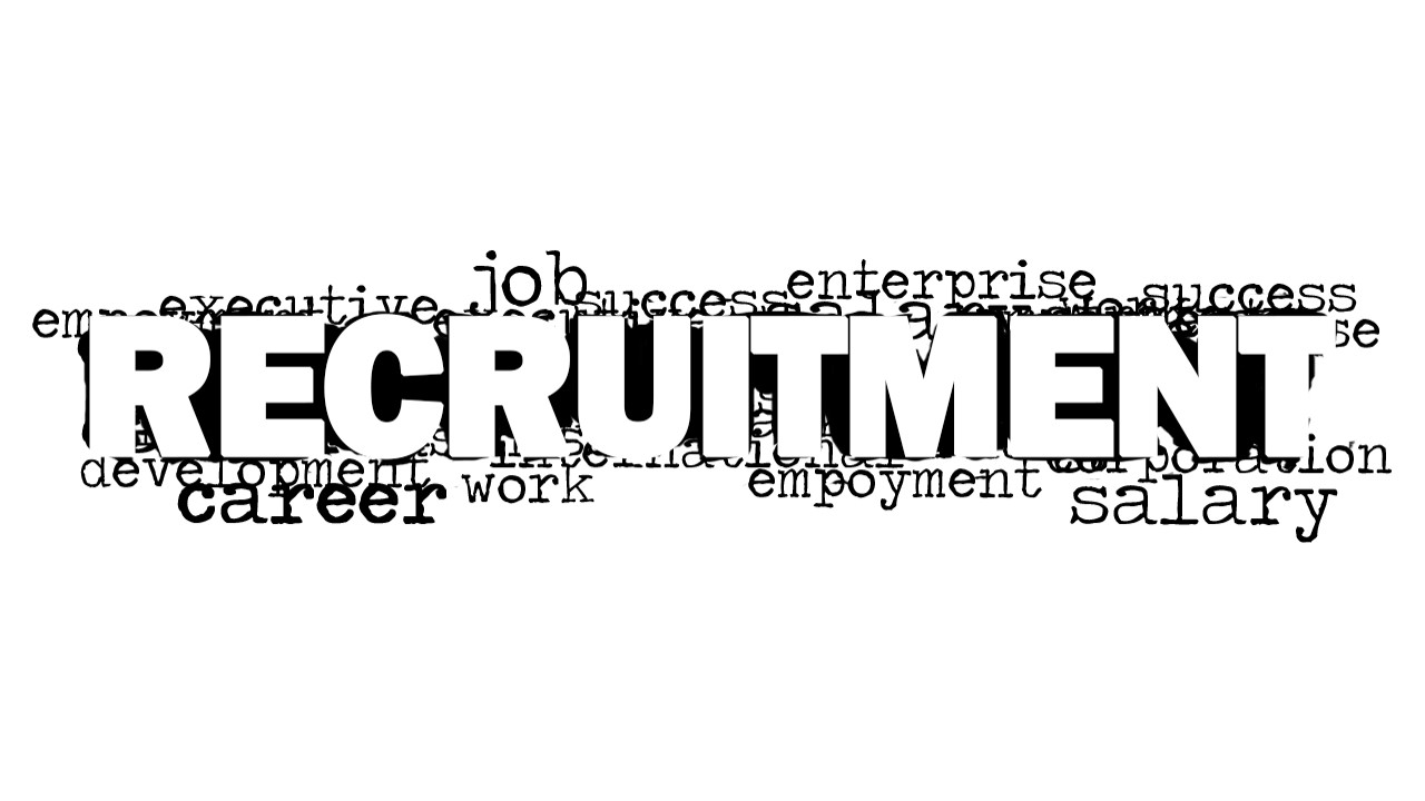 recruitment word cloud picture for powerpoint