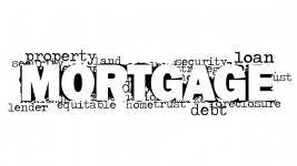 Mortgage Word Cloud White Background Image