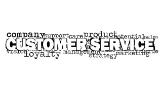 Customer Service Word Cloud Picture for PowerPoint