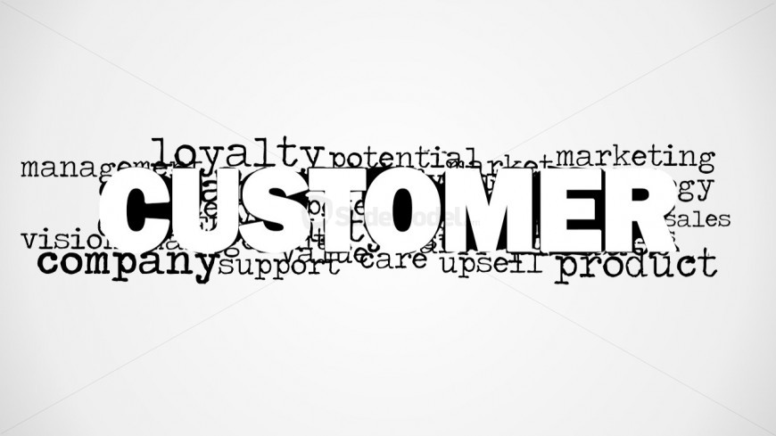 Customer Loyalty Word Cloud Design
