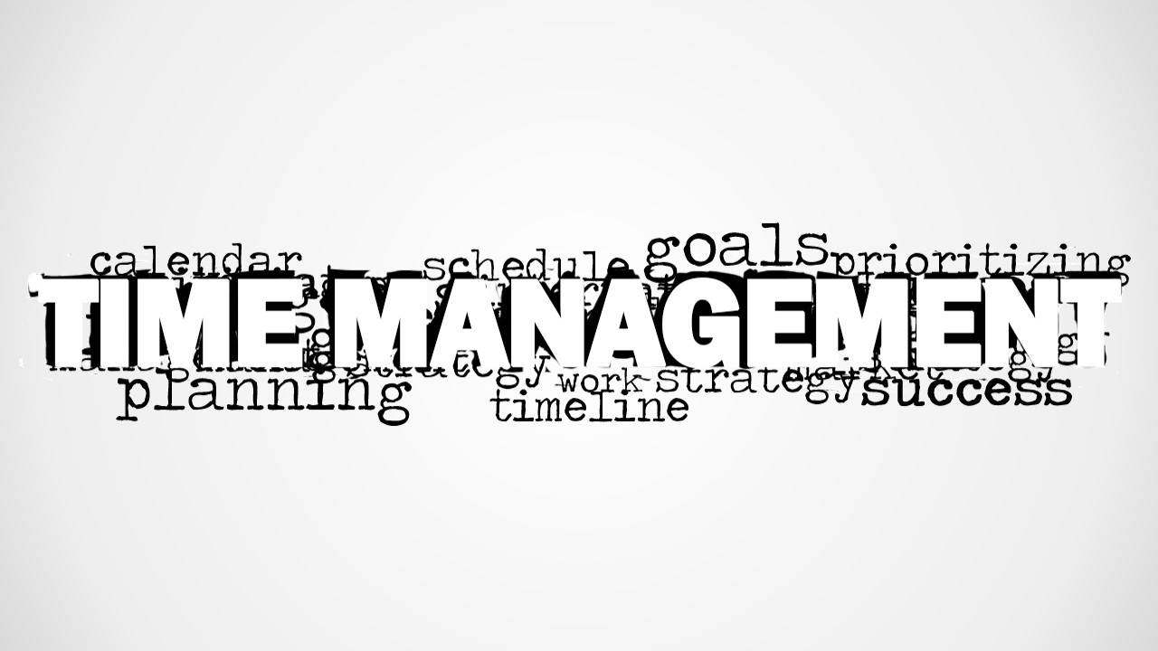 time management word cloud picture for powerpoint