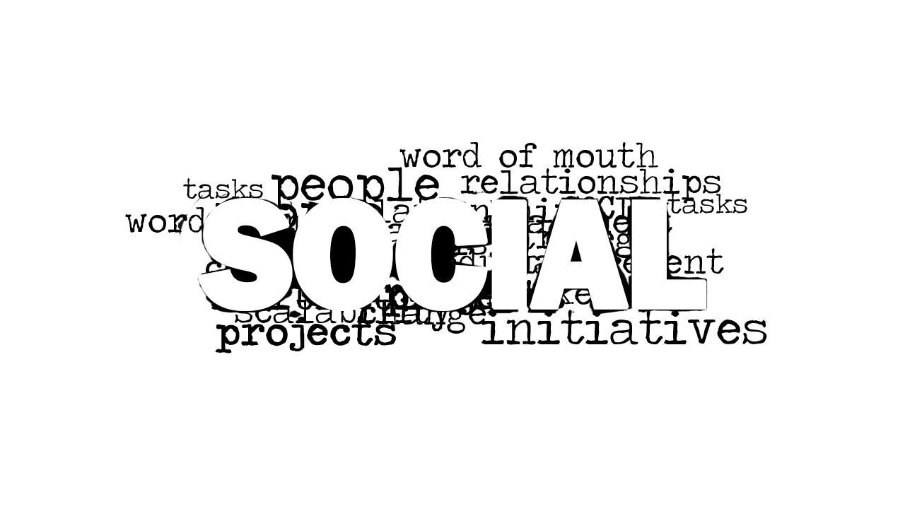 social word cloud picture for powerpoint