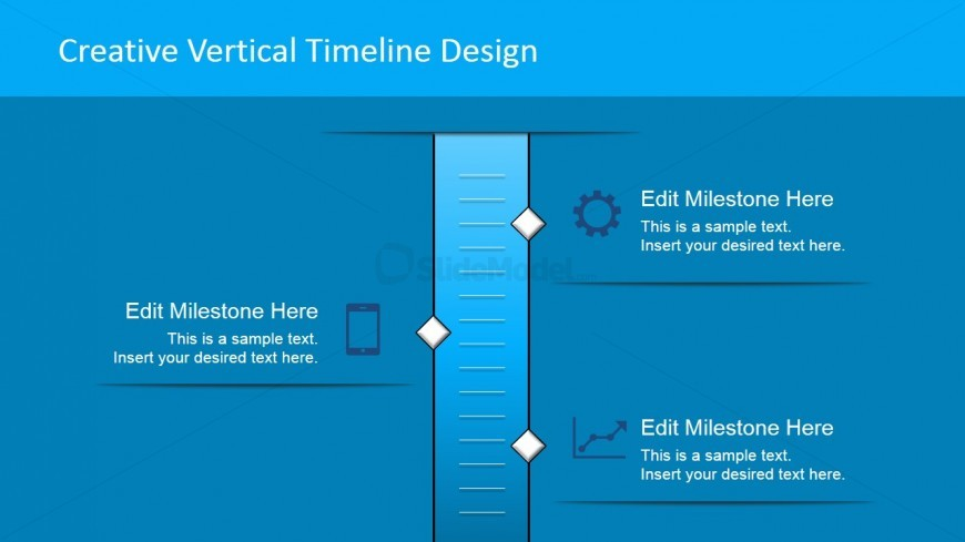 Vertical Timeline with 3 Milestones