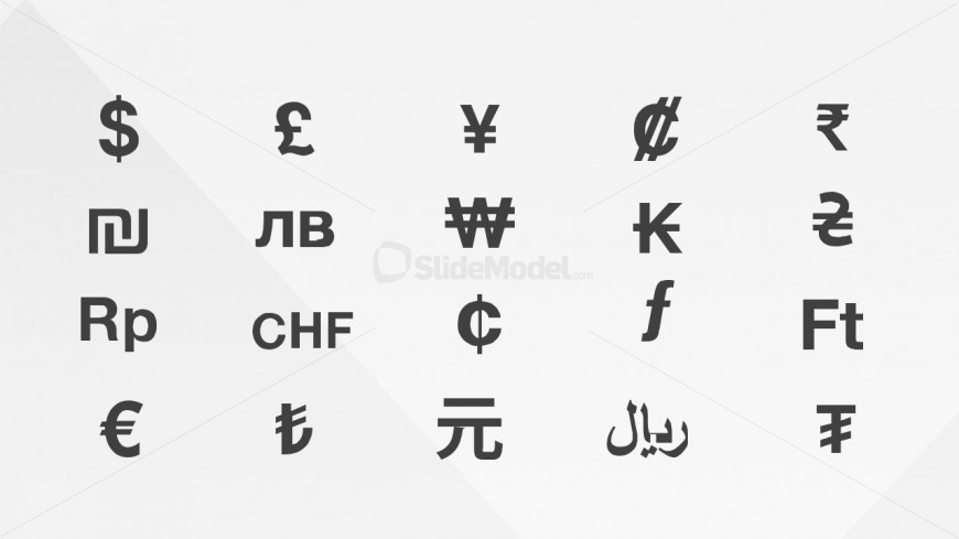 currencies symbols clipart for powerpoint