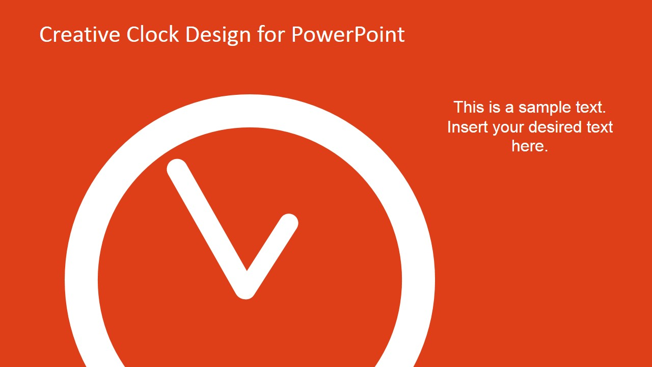 creative analog clock slides for powerpoint