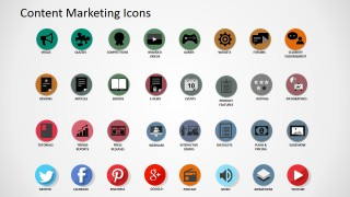 PowerPoint Clipart of Digital Content Assets