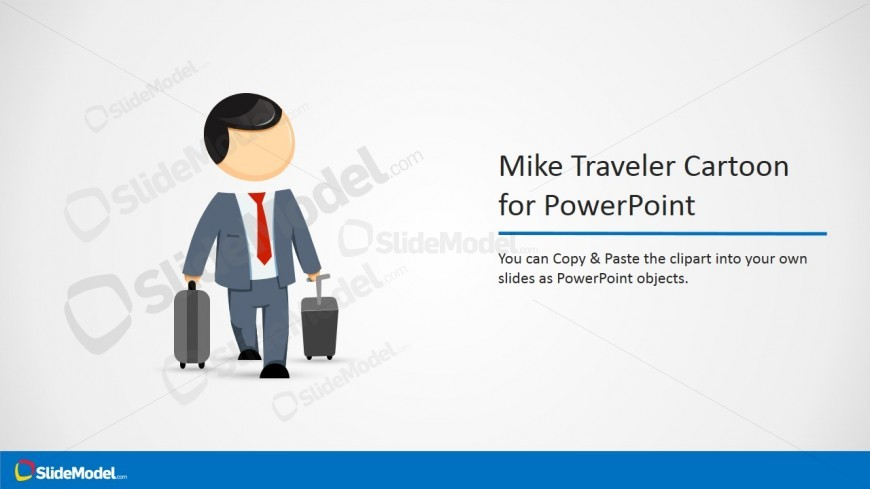 Professional Editable Clipart of Business Man Traveling