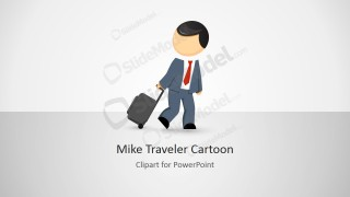 Mike Carry-On Luggage Cartoon for PowerPoint