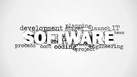 Software Tag Cloud Picture for PowerPoint