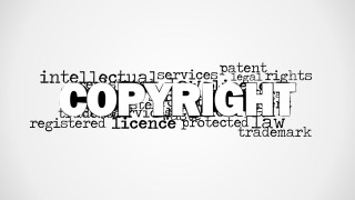 Copyright Word Cloud Picture for PowerPoint