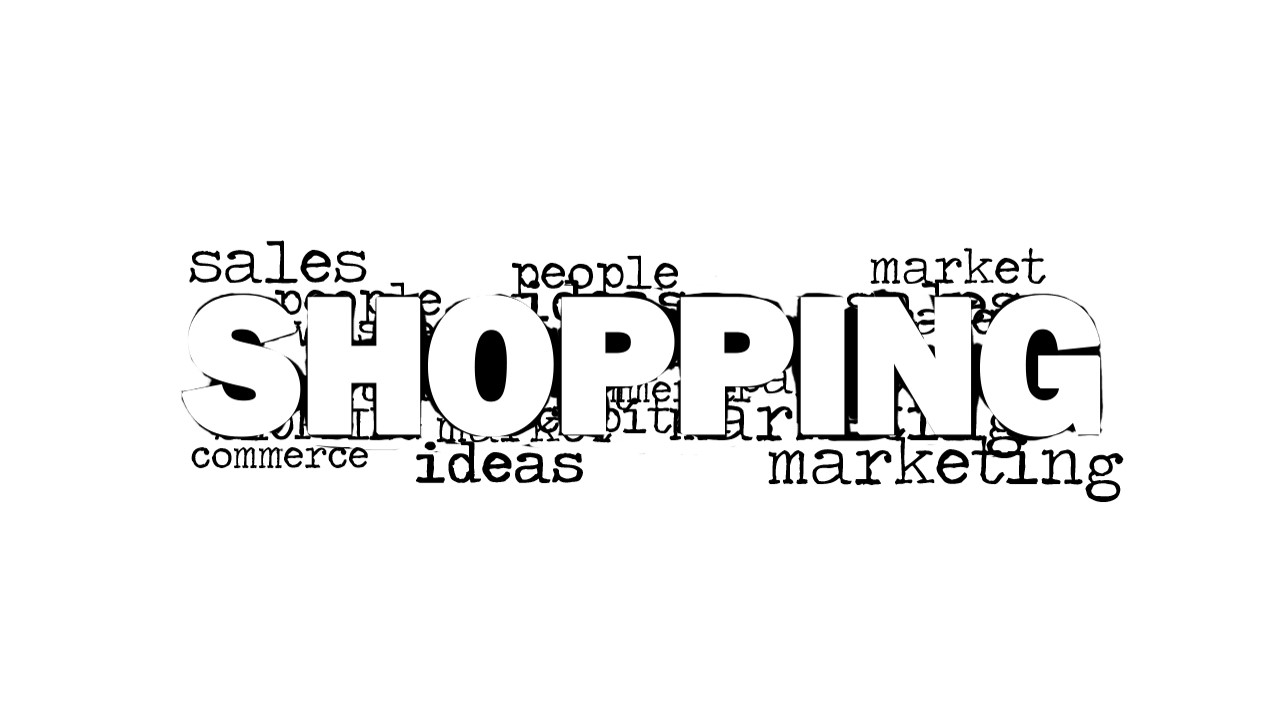 Shopping Word Cloud Picture for PowerPoint - SlideModel