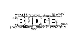 budget word cloud picture for powerpoint slidemodel