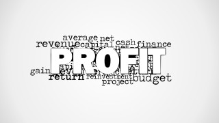 Profit Word Cloud Picture for PowerPoint