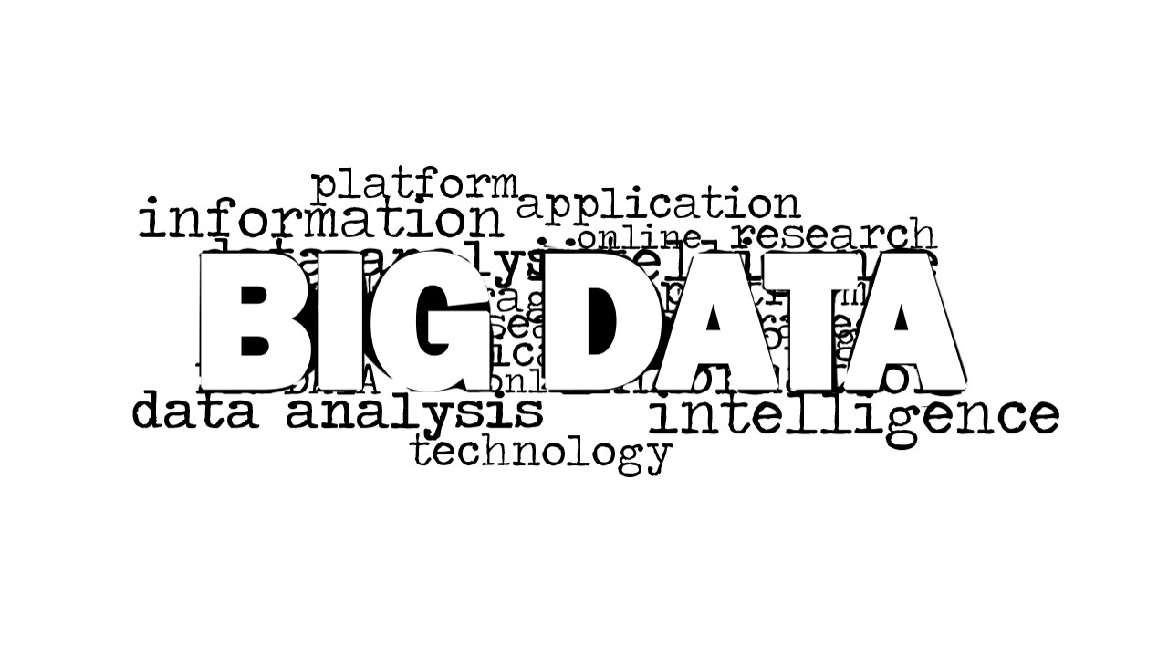 Big Data Analysis Word Cloud Picture