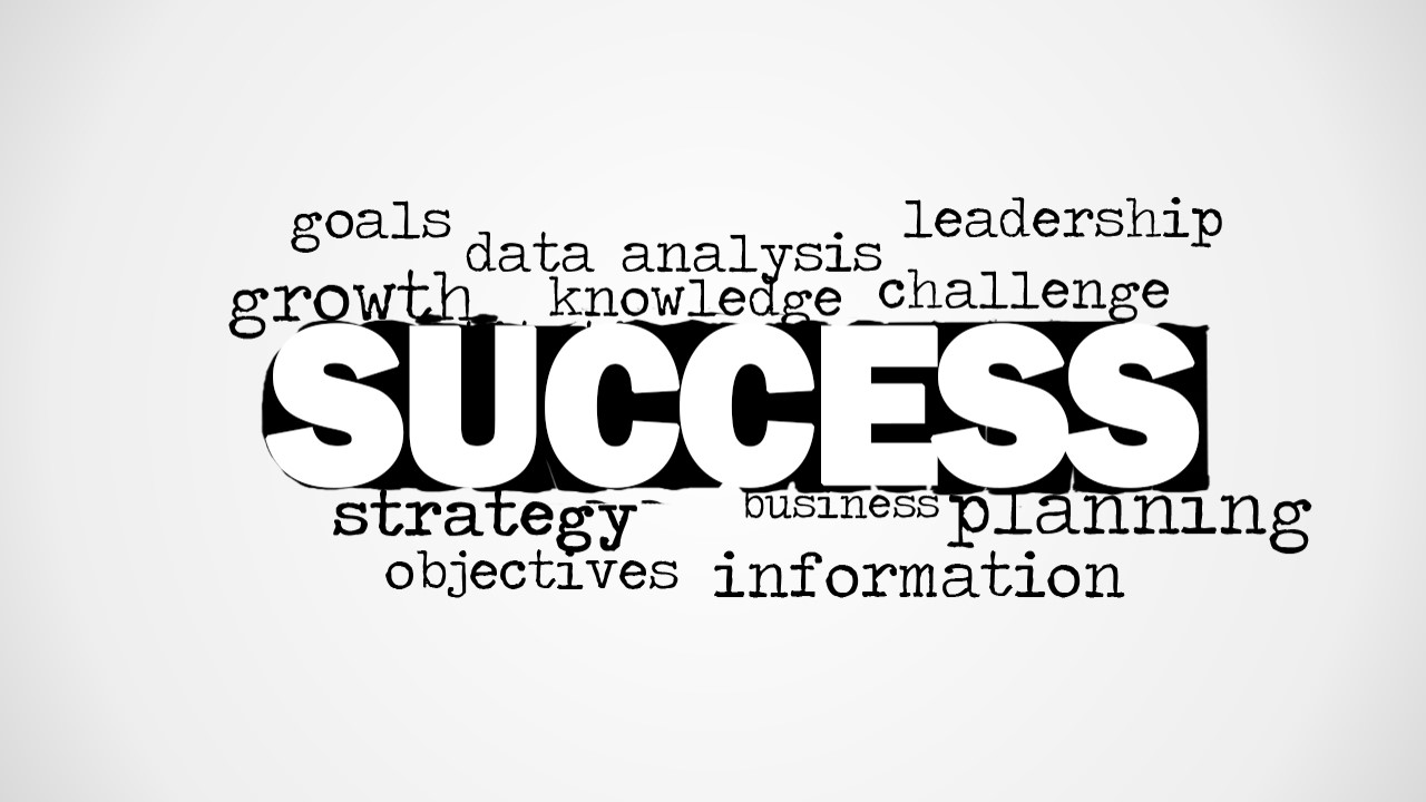 Success Word Cloud Image for PowerPoint