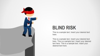 Blind Risk Business Analogy Slides for PowerPoint