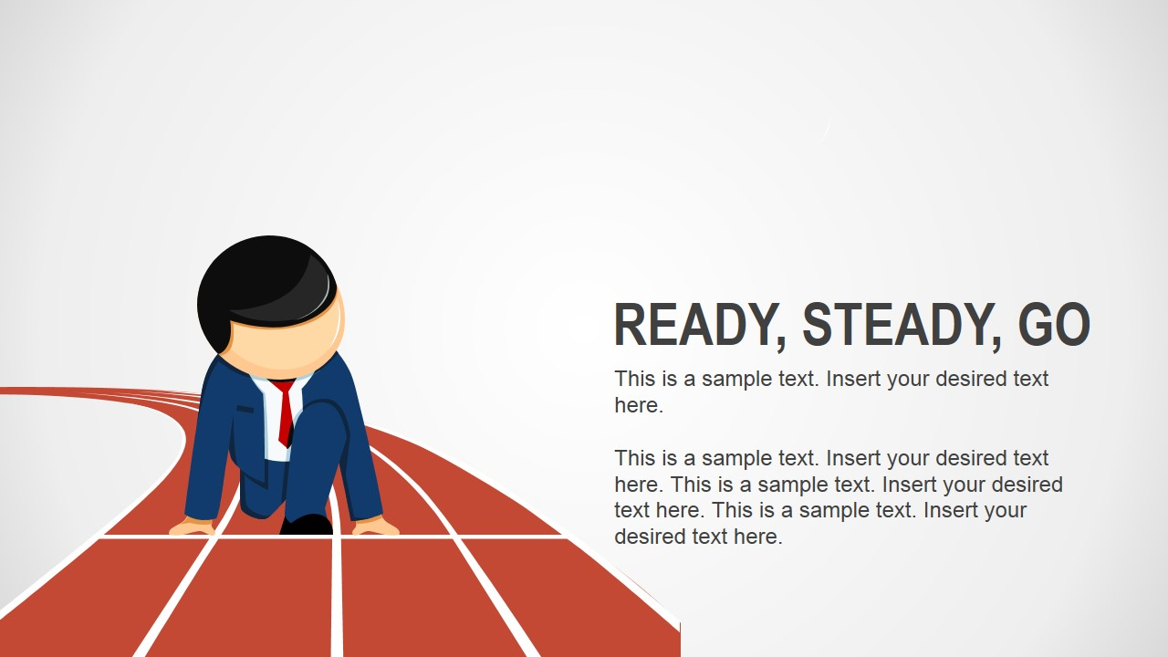 ready steady go business analogy slides for powerpoint slidemodel
