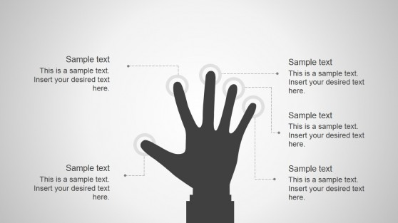 Hand Palm Silhouette for PowerPoint