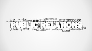 Word Cloud Image Featuring Public Relations