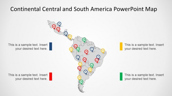 Latin powerpoint templates continental latin america map for powerpoint toneelgroepblik Images