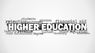 Higher Education Word Cloud Picture for PowerPoint