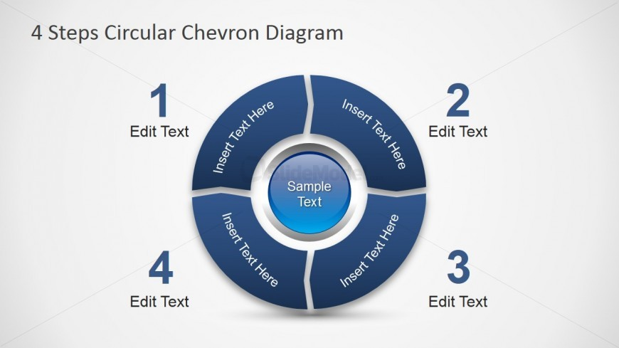 PowerPoint Diagram Four Steps Chevron