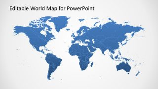 PowerPoint Template world map Shape