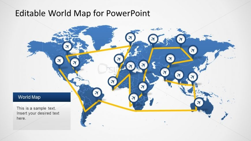 PowerPoint Template Worldmap