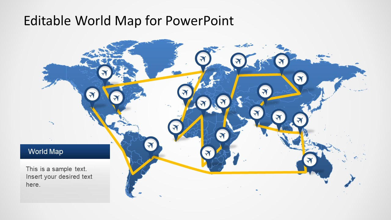 Editable worldmap for powerpoint slidemodel powerpoint template world map shape powerpoint template worldmap gumiabroncs Images