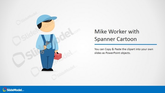 PowerPoint Clipart Cartoon with Spanner