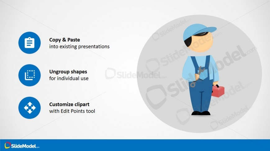 PPT Cartoon Mike Worker with Spanner