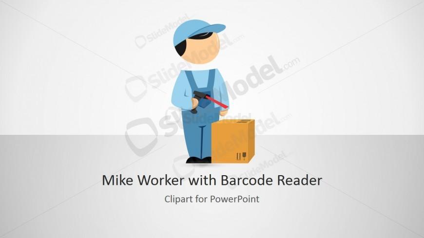 PPT Template Cartoon Barcode Reader