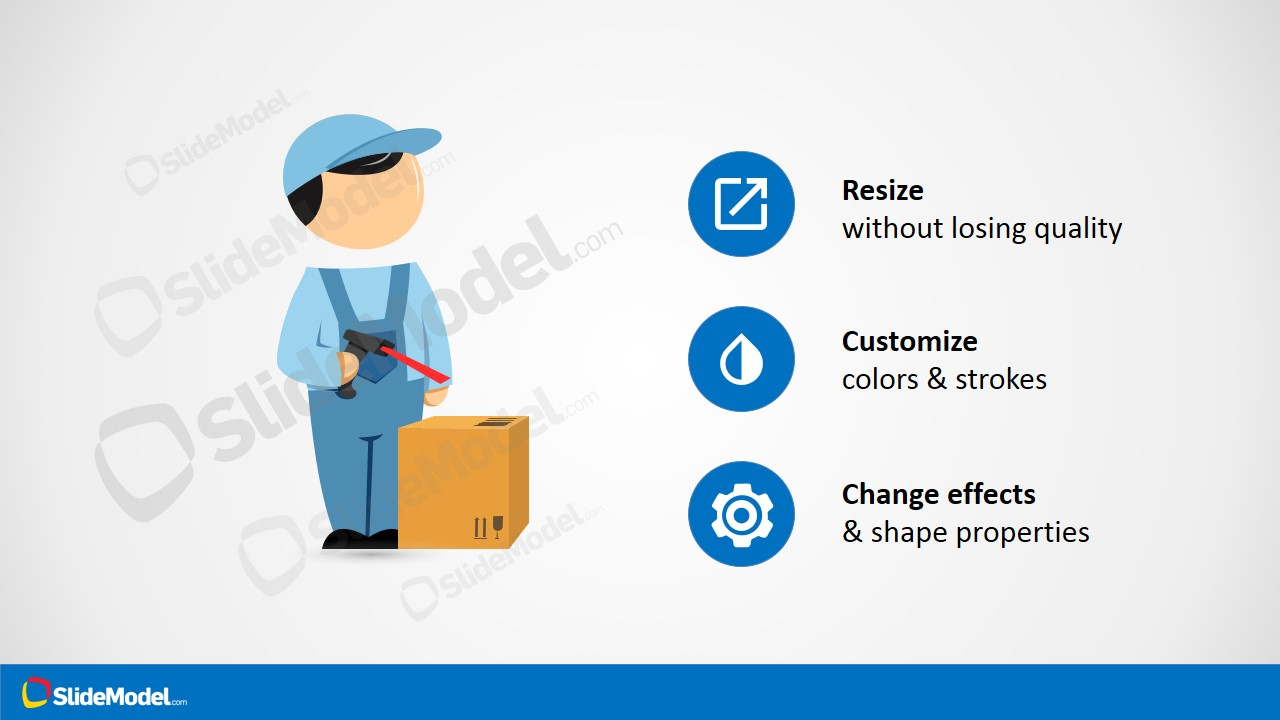 Mike powerpoint cartoon worker with barcode reader slidemodel powerpoint template mike clipart for warehouse theme toneelgroepblik Images