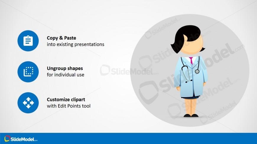 PPT Cartoon Female Doctor Jane