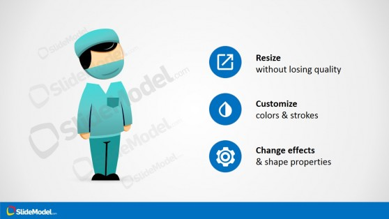 PPT Shapes Medical Surgeon Ready to Operate