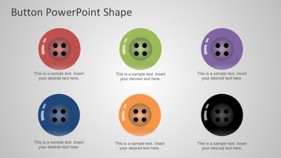 Flat Design Clothing Buttons for PowerPoint