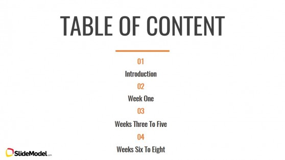 Table of Content Slide Design