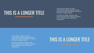 PPT Horizontal Titles Template