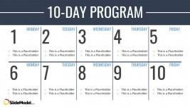 Timeline Template Two Weeks Calendar