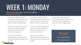 Microsoft PowerPoint Template Week 1 Design
