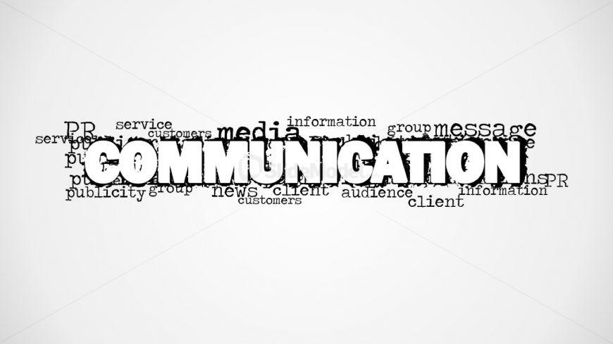 Capital Letter Design Communication Word Cloud